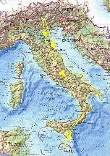 Dove Si Trova Malta Cartina Geografica.Da Bolzano A Malta In Motoaliante